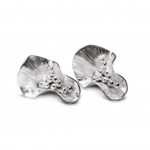 Boucles d'oreilles Poppy argent