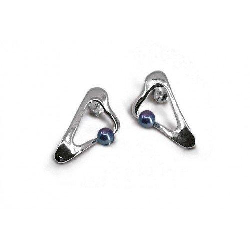 Boucles d'oreilles Perla argent