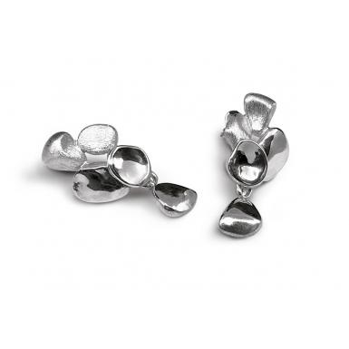 Boucles d'oreilles Pebbles argent