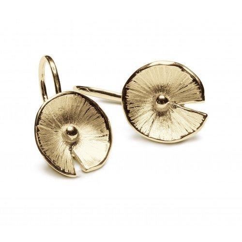 Boucles d'oreilles Nenuphar vermeil