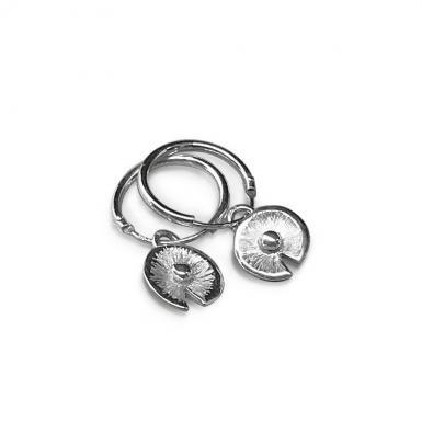 Boucles d'oreilles Pusili Nénuphar argent