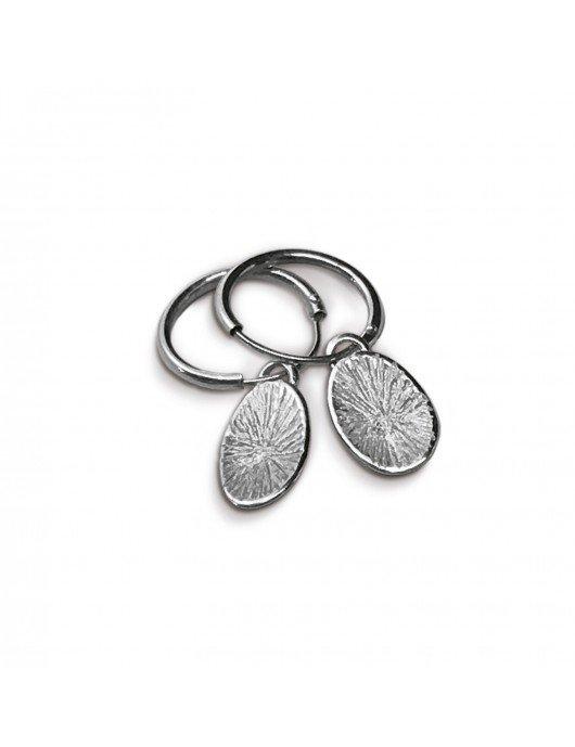 Boucles d'oreilles Pusili PollenII argent
