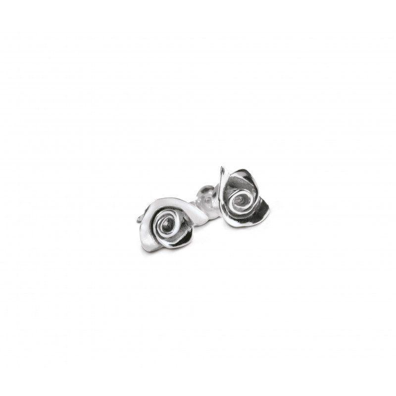 Boucles d'oreilles Nitida petit modèle argent