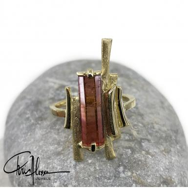 Bague Ramus Or Tourmaline face