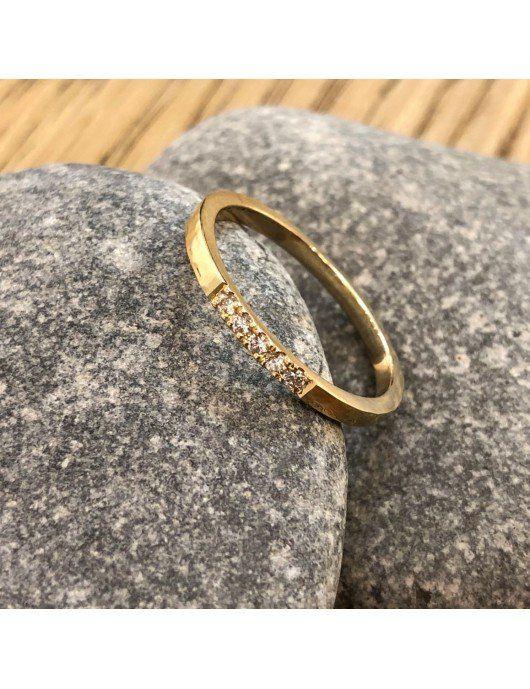 Bague fiançailles 5 diamants 2