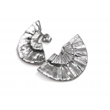Boucles d'oreilles Kalendi medium argent Chris Alexxa