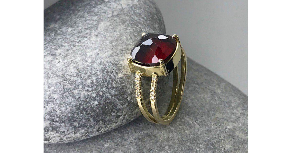 Bague Grenat et 20 diamants Chris Alexxa