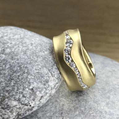 Bague-rivière 41 diamants