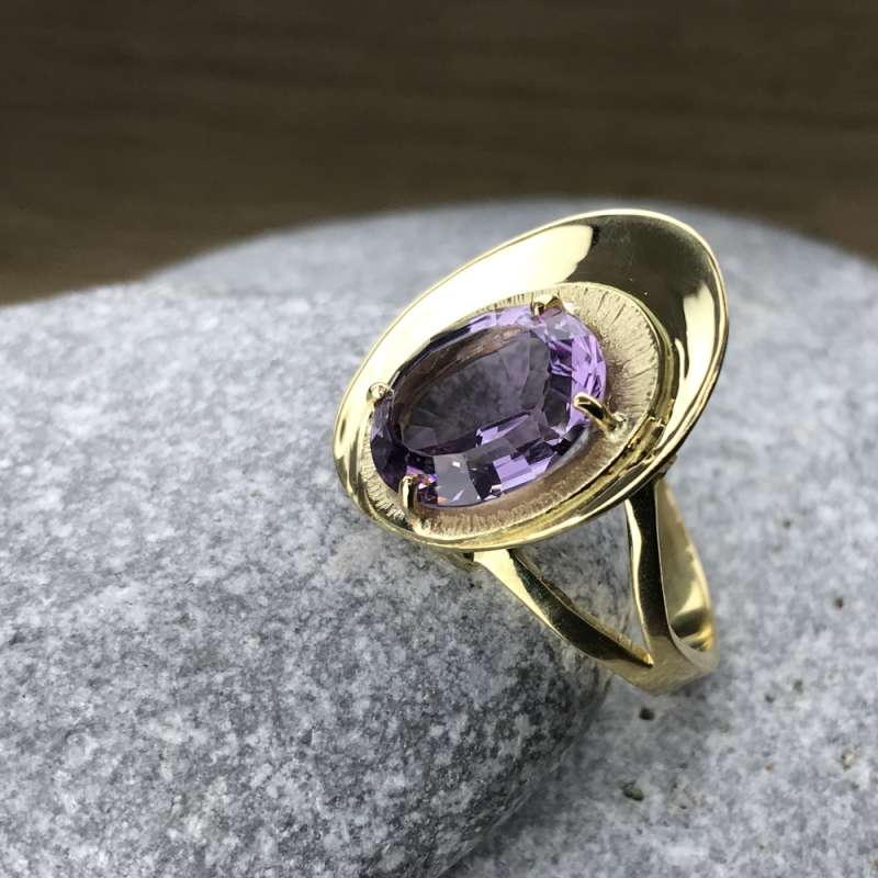 Bague Amethyste-or Chris Alexxa