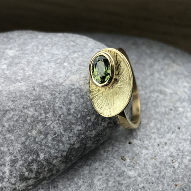 Bague tourmaline verte Chris Alexxa