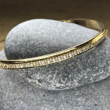 Bracelet 30 brillants or Chris Alexxa