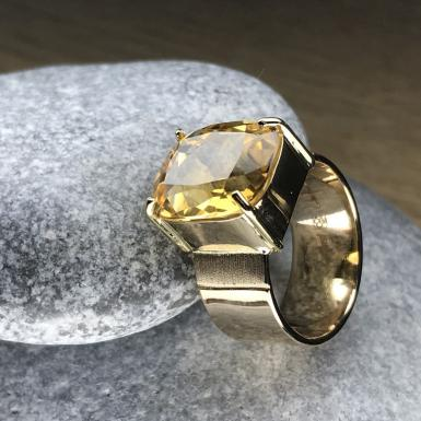 Citrine sur bague or 18Kt Chris Alexxa