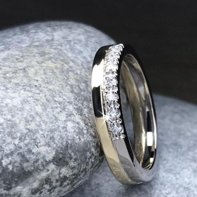Alliance or blanc et jaune diamants Chris Alexxa