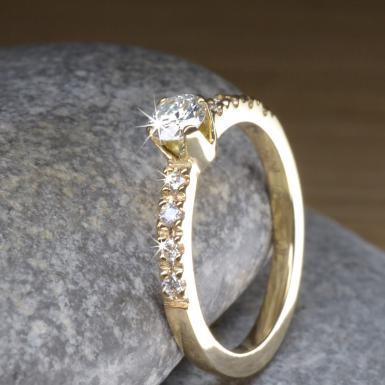Bague de fiançailles 9 diamants Chris Alexxa bijouterie Liège