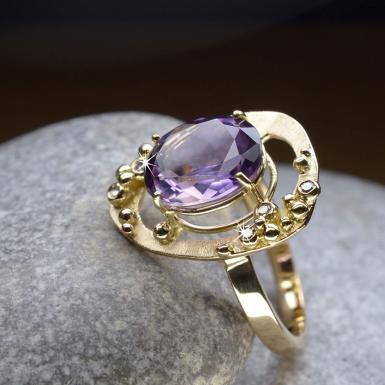 Bague améthyste et diamants Chris Alexxa