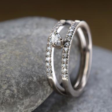 Bague or blanc 27 diamants Chris Alexa