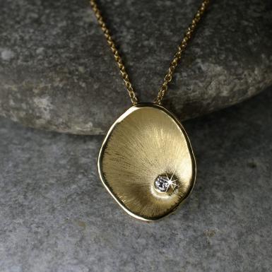 Pendentif Corolle diamant GM Chris Alexxa bijouterie Liège