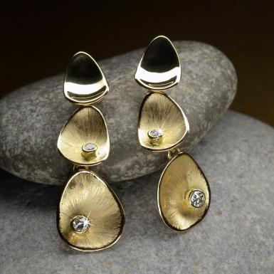 Boucles d'oreilles Corolle 3P diam Chris Alexxa bijouterie Liège