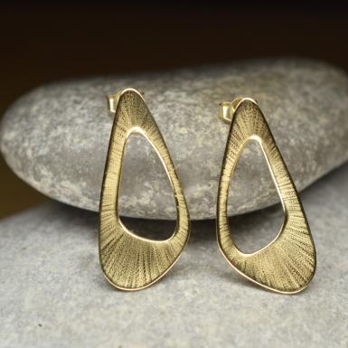 Boucles d'oreilles Corolle or Chris Alexxa bijouterie Liège