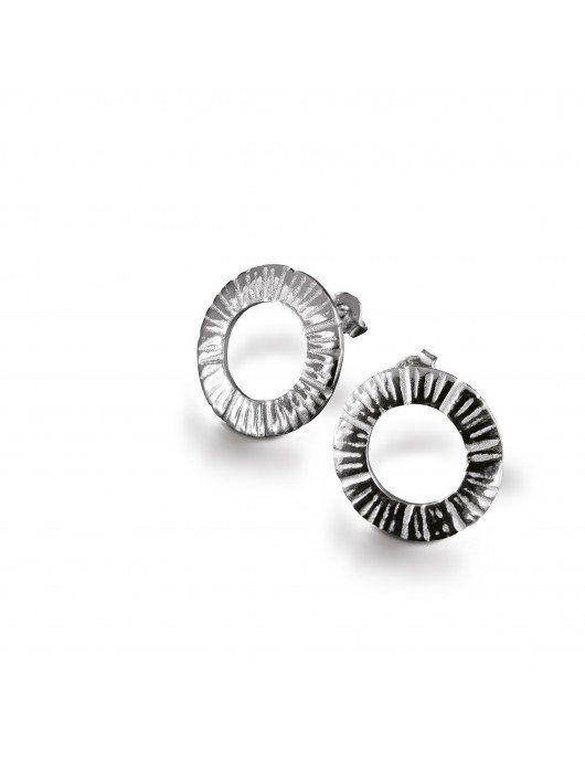 Boucles d'oreilles Meteorite Chris Alexxa argent