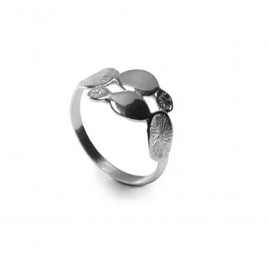 Bague Pollen Five Chris Alexxa argent