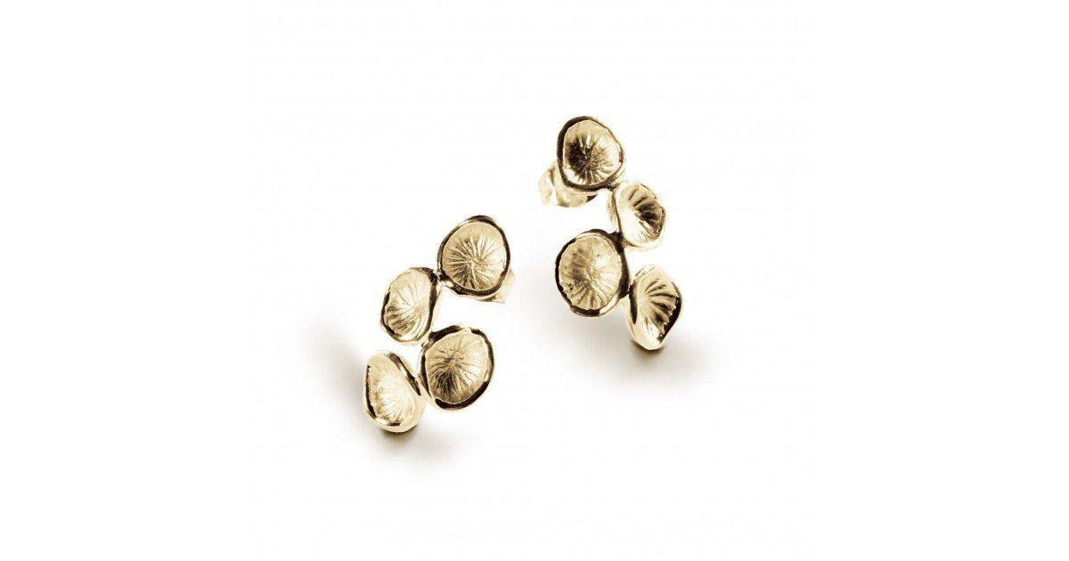 Boucles d'oreilles Pollen Chris Alexxa vermeil