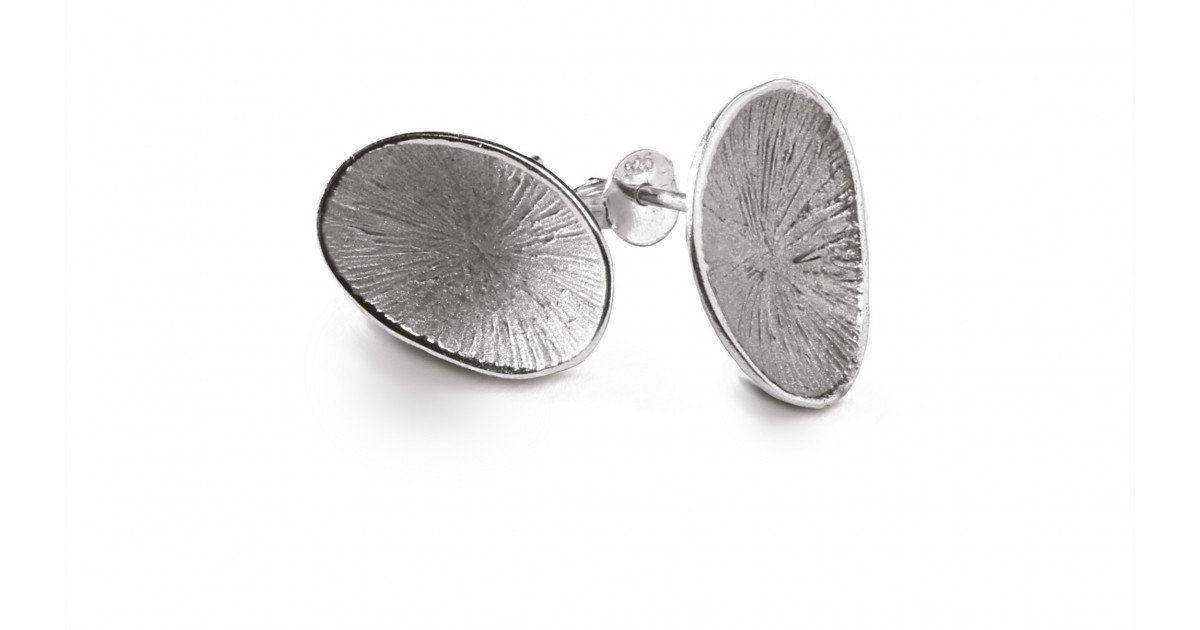 boucles d'oreilles pollen mini Chris Alexxa argent